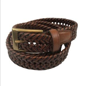 Dockers Brown Braided Leather Belt size 42